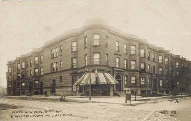 WOODLAWN AND 61ST - APARTMENT BUILDING - DRUG STORE ON CORNER - EARLY