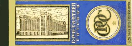 MATCHBOOK - CHICAGO - CHICAGO POST OFFICE CANTEEN