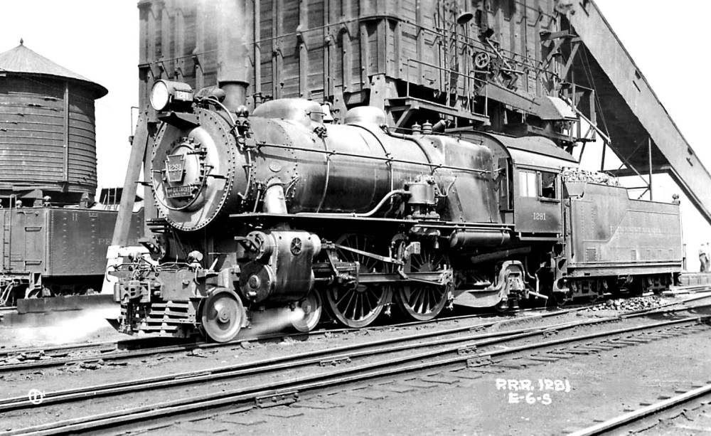 PHOTO - CHICAGO - TRAIN - PENNSYLVANIA - STEAM ENGINE 1281