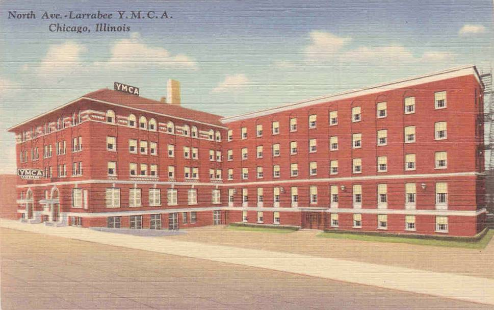 POSTCARD - CHICAGO - LARRABEE YMCA - NORTH AVE - c1950