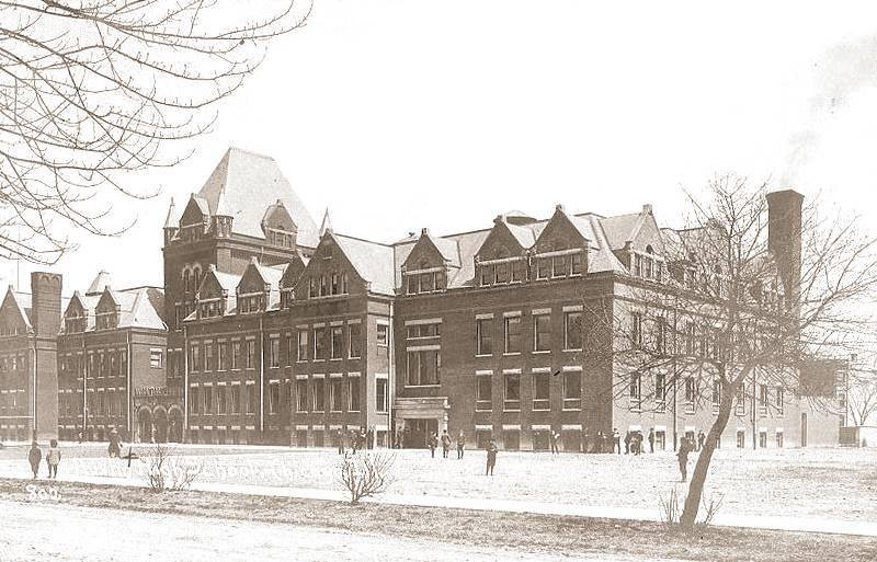 POSTCARD - CHICAGO - AUSTIN HIGH SCHOOL - 1907