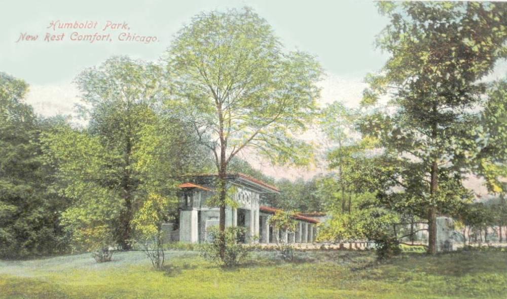 POSTCARD - CHICAGO - HUMBOLDT PARK - NEW REST COMFORT - 1909