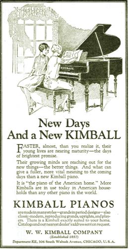 AD - CHICAGO - W. W. KIMBALL COMPANY - 306 S WABASH - 1927